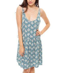 Love this Jade & White Deep Arm Sleeveless Dress by Cecico on #zulily! #zulilyfinds