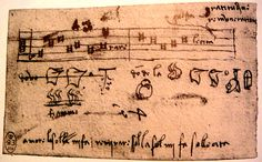 Leonardo da Vinci. Music score. Unknown source. c 1480