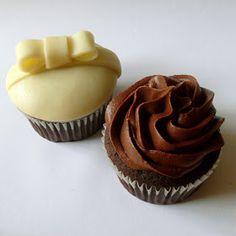 Cupcake z Prahy: Čokoládové cupcakes s čokoládovým krémem Cheesecake Cupcakes, Cheesecake Brownies, Cupcake Recipes, Cupcake Cakes, Chocolate Cupcakes, Cheesecakes, Cookies, Baking, Food