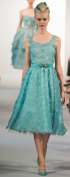 MOTHER OF THE BRIDE DRESS FOR ME...WHAT DO YOU THINK?   #Oscar De La Renta Spring Summer Ready to Wear 2013 #Trend Ladylike  repin by eDressit.com