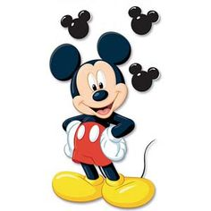 Shop for Disney Dimensional Stickers-Mickey - Mickey. Mickey Mouse Pictures, Mickey Mouse And Friends, Mickey Mouse Birthday, Mickey Mouse Wallpaper, Wallpaper Iphone Disney, Mickey Mouse Tattoos, Mickey Mouse Costume, Disney Printables, Mickey Minnie Mouse