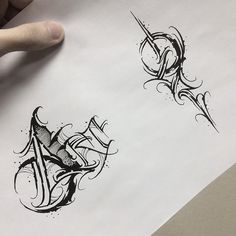Tattoo Lettering Alphabet, Tattoo Lettering Styles, Chicano Lettering, Tattoo Design Drawings, Graffiti Lettering, Lettering Design, Calligraphy Tattoo Fonts, Chicanas Tattoo, Tattoo Hals