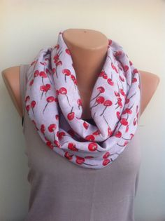 Red Infinity Scarf  Women's Scarves Red Loop Scarf by ScarfAngel, $19.00