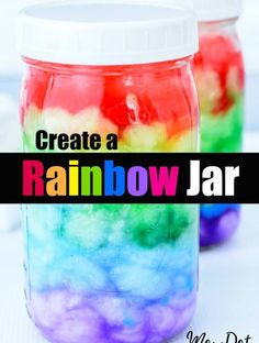 Rainbow Jar or Rainbow in a Jar, you decide, easy DIY full of wonder and delight to create a Rainbow in a Mason Jar at home Diy Crafts For Teen Girls, Arts And Crafts For Teens, Easy Arts And Crafts, Diy Home Crafts, Diy Crafts To Sell, Tween Craft, Popular Crafts, Sell Diy, Food Crafts