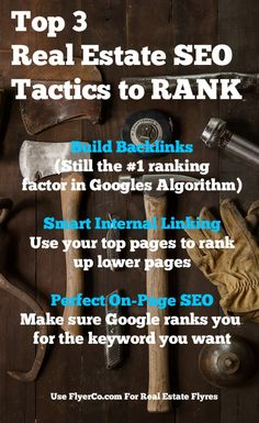 Real Estate SEO: 3 In-depth tactics you should master from https://www.flyerco.com #realestate #realtor