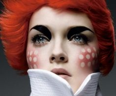 Raggedy Anne inspired makeup