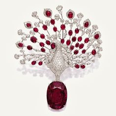 cartier orchid ruby necklace - Google Search