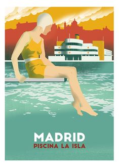 Medialab Prado, All Over The World, Around The Worlds, All Poster, Movie Posters, Retro Posters, Foto Madrid, Travel Illustration, Long Time Ago