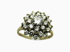 Loving this Swoonworthy Diamond Cluster Ring!  #Vintage #Diamond-Cluster #Ring #Swoon for Jewelery