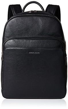 cc4a5282c501 Armani Jeans Men s Eco Leather Backpack with Laptop Compartment