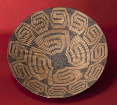 A beautiful example of a Pima (Akimel O'odham) bowl basket, ca. 1900. Photo by Jannelle Weakly, from the permanent collections of Arizona State Museum.