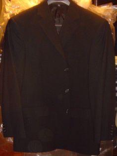Doc & Amelia Black Blazer Jacket Aerocool 3 Button Comfort Size 40 Reg New  #DocAmelia #ThreeButton