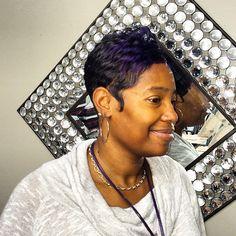 Purple color compliments of #pravana vivids a #exclusivelyyourssalon