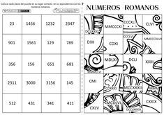 Puzzle de numeros romanos Third Grade Math, Sixth Grade, Primary Maths, Primary School, Math Games, Math Activities, Math Numbers, Math For Kids, Fourth Grade