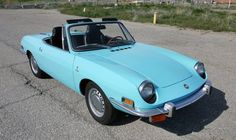 This little blue beauty was a project car for the current owner so a lot of it has been gone over, but it sure looks great even if it isn't original. The 1971 Fiat 850 Spider seen here is in Salt. Fiat 850, Camaro Zl1, Chevrolet Corvette, Alfa Romeo, Bmw 6 Series, Jaguar F Type, Steyr, Best Classic Cars, Performance Cars