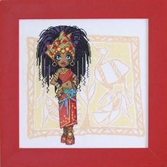 0 point de croix petite africaine - cross stitch little miss african