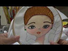 bordado fantasia niña bailarina orquidea cabello marimur 696 - YouTube