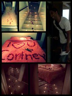 <3 surprise for my boyfriend (: -Cute Sweet Romantic ideas