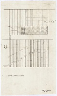 Villa Mairea 1938-39. Dynamic Architecture, Architecture Drawings, Art And Architecture, Architecture Details, Stairs Diagram, Helsinki, Nordic Classicism, Construction Documents, Architect Drawing