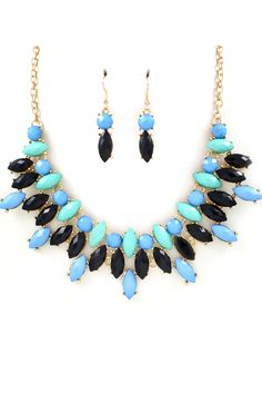 Marquise Sofie Necklace in Blues on Emma Stine Limited