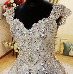 Crystal - Bridal Dress Wedding Gown Marriage Matrimony Wedlock $860 via @Shopseen