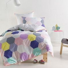 Queen Purple Patches Quilt Cover Set by Hiccups