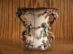 MOLLICA CAPODIMONTE Porcelain Ceramic Vase Italy LOOK