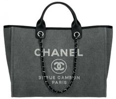 Presenting the Chanel Deauville Tote Bag. This tote bag first originated from Chanel& Spring& Chanel Purse, Chanel Handbags, Chanel Bags, Coco Chanel, Chanel Canvas, Chanel Cambon, Kelly Bag, Lingerie, Handbags Online