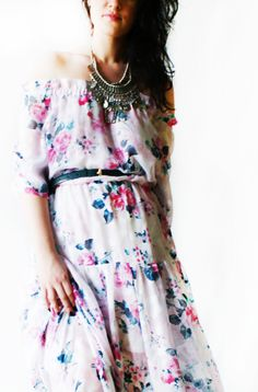 LURDES ENGLISH MORNING GARDEN DRESS #dress #country #style #floral #summer #boho #bohemian #festival #romantic #chiffon #floral #flowers #womens #woman # girl #fashion #style #trend #stylish #spring #chic #bohostyle #summerdress #womensdress #cheap #etsy #brand #label #cocktaildress #cocktail #resort #strapless #white #chiffon #roses #hippiechic #bohemian #hippiestyle #romantic