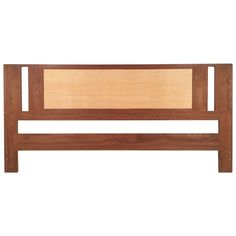 Danish Teak and Grass Cloth Double Sided King-Size Headboard by Falster For Sale