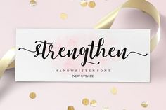 SALE! calligraphy font Strengthen Script by Areatype on @creativemarket