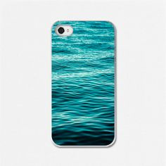 iPhone 4 case, iPhone 4 cover - Water, Blue, Turquoise, Beach, Waves, Aqua, Blue, Minimalist, Ombre, Shore.. $32.00, via Etsy.