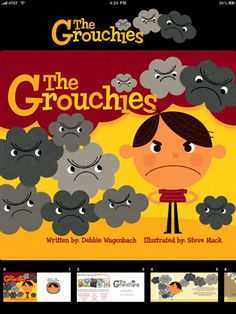 The Grouchies is an app created by the American Psychological Association and it is free. It is a cute storybook format for children with funny rhymes and a chant that helps kids learn how to turn around grouchy moods.