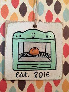 Pregnancy Bun in the Oven Ornament by BelleBrookeDesign on Etsy