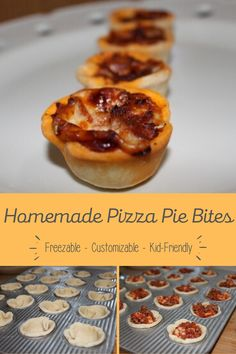 These Pizza Pie Bites are an impressive party appetizer that are a huge hit with kids and adults alike. Also great to have in the freezer for snacks. Freezer Cooking, Freezer Meals, Pie Crust Dough, Pizza Flavors, Cheese Cubes, Pizza Bites, How To Make Pizza, Mini Muffins, Recipe Community