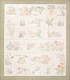 A Gardener's Alphabet Block of the Month - Block of the Month - Patterns - Crabapple Hill Studio