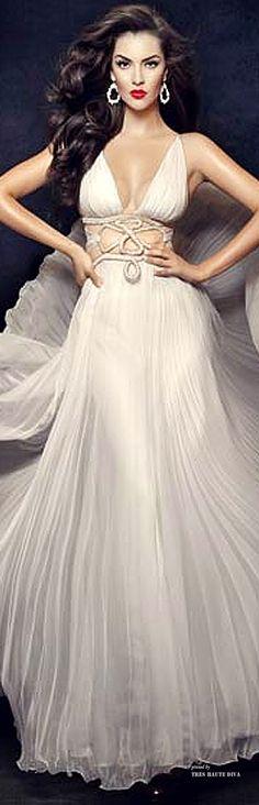 Camille Flawless Bridal 'Greek Goddess' White Swarovski Crystals