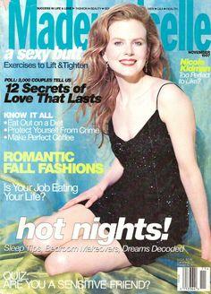 November 1997 cover with Nicole Kidman Hair Magazine, Glamour Magazine, Female Magazine, Nicole Kidman, Vintage Magazines, Vintage Ads, Prague, Southern Hair, Mademoiselle Magazine