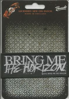 BRING ME THE HORIZON Horror Logo Woven Patch Sew On Official Band Merch