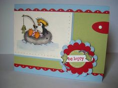 Be Happy Peanutbee using Stampin Up Penguin Paradise.
