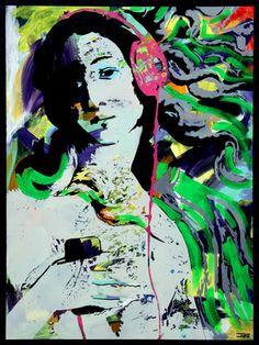 """Saatchi Online Artist Eduardo Bessa Rodrigues; Painting, """"Music is what feelings sound like - II"""" #art"""