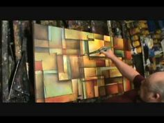 painting...Abstract Art painting 'Alter the Truth' Modern, contemporary, Mix Lang How to demo.