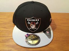 New Era 59Fifty Oakland Raiders 2015 NFL Draft Hat Cap On Stage 7 5/8 Football