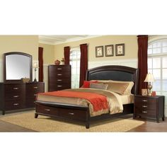 Picket House Elaine Queen 3-piece Set with Power (Donner Queen 3pc in a rich espresso finish), Brown