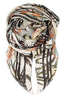 ALEXANDER MCQUEEN Palm printed scarf