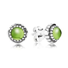 Pandora Peridot August Birthstone Stud Earrings 290543PE UK