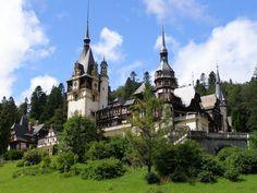 + peles castle, sinaia, romania (literally the best castle i've ever seen) Transylvania Castle, Transylvania Romania, Places Around The World, Oh The Places You'll Go, Around The Worlds, Beautiful Castles, Beautiful Buildings, Interesting Buildings, Draculas Castle Romania