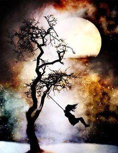 Swinging in the moon light