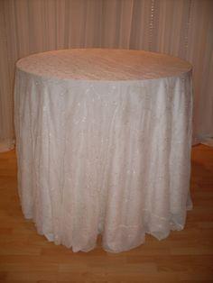 Ivory Fleur overlay #linen #chairdecor #linenfactory #event #finelinen #tabledecor
