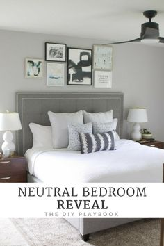 Come Check Out This Gorgeous Neutral Bedroom Makeover Lots Of Gray Colors Natural Woods